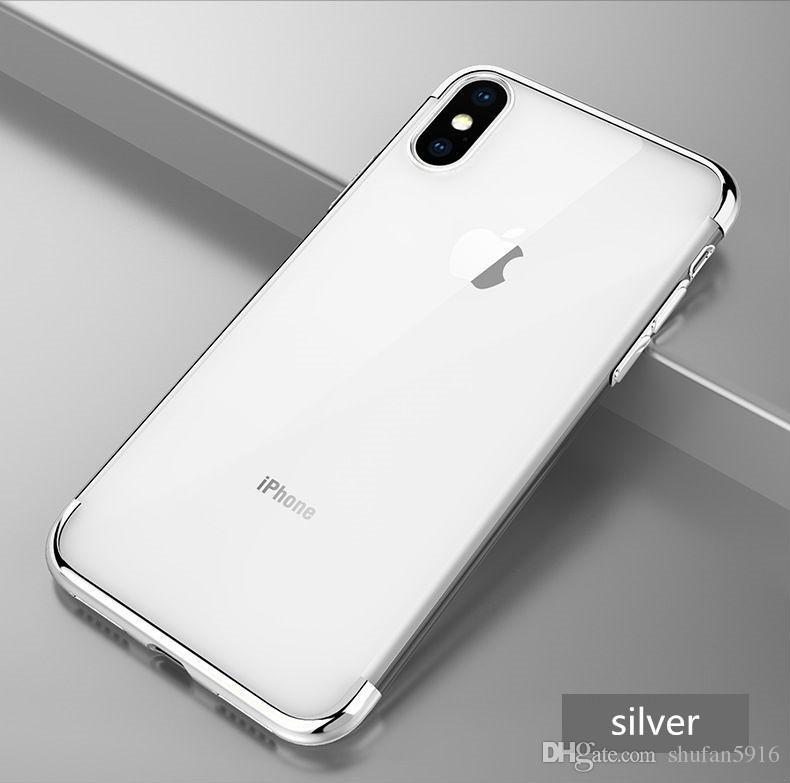 Für iphone x xr xs max luxus überzug weich klar tpu bunte silikon zurück transparent gel abdeckung telefon case für iphone 8 7 6 s plus