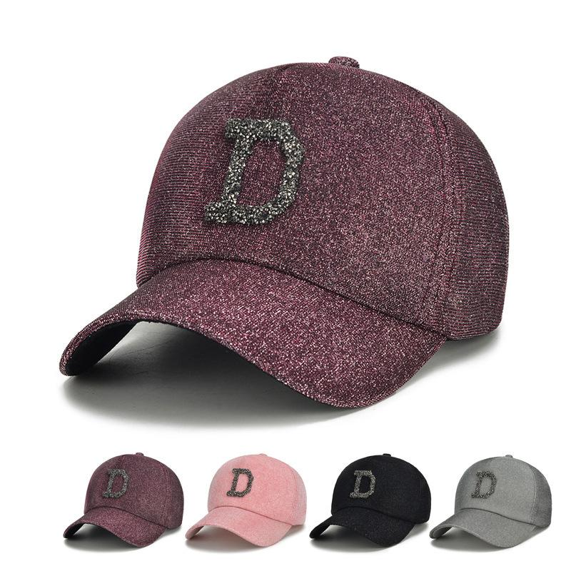 36a29958185 Hats For Man And Woman Snapbacks Spring Diamond Rhinestone Baseball Hat  Woman Korean Trend Leisure Time Joker New Pattern Peaked Cap Baseball Caps  Snapback ...