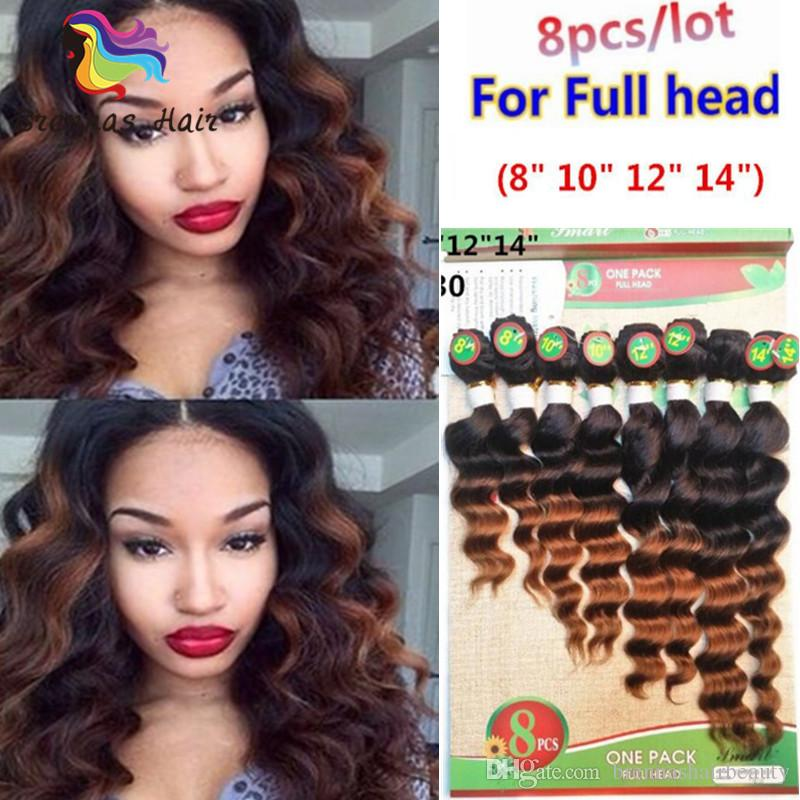 2018 New Free Shipping Indian Ombre Kinky Curly Hair Weaves 8pcs/Lot Remy Human Hair Bundles 8-14inch 1B Bug for Black Women