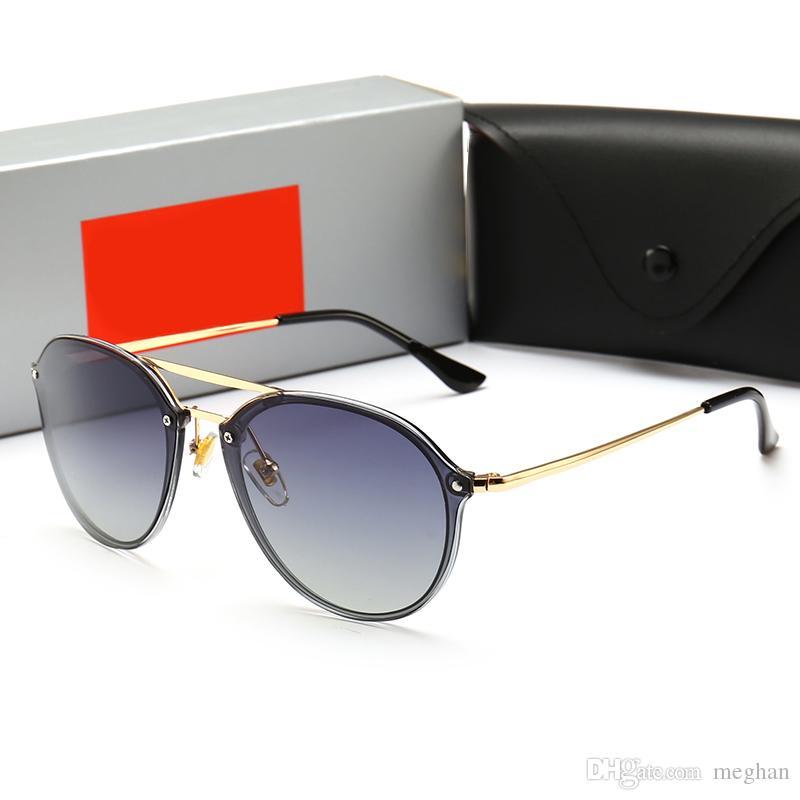 8d6f3646c4a63 2019 Polarized Fashion Rays Sunglasses Men Women Sun Glasses Brand Designer  Justin Mirror Gafas De Sol Bans Designer Male Eyewear With Cases From ...