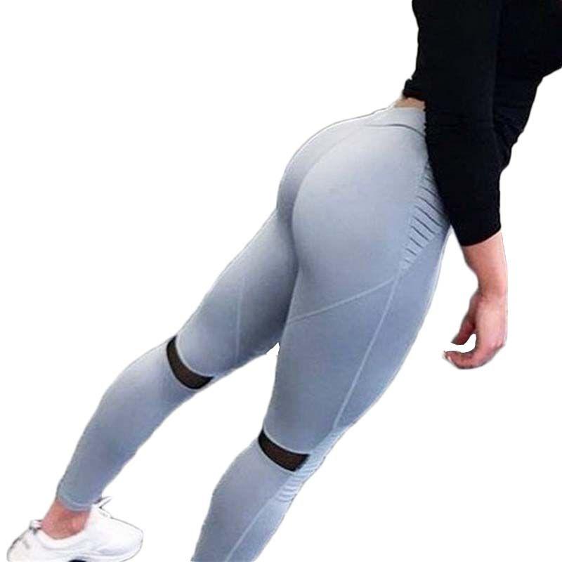 658f3cafa4dd8 high waist booty scrunch yoga pants sports tights women's breeches  sportswear yoga moto fitness gym slimming leggings for women
