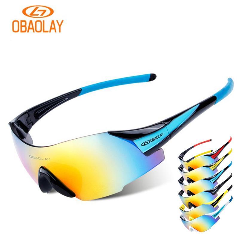 09bb0d2aff9d0 Compre OBAOLAY Ciclismo Óculos De Proteção UV400 Bicicleta Polarizada Eyewear  MBT Equitação Motorcross Bicicleta Óculos De Sol Para Homens Oculos Ciclismo  ...
