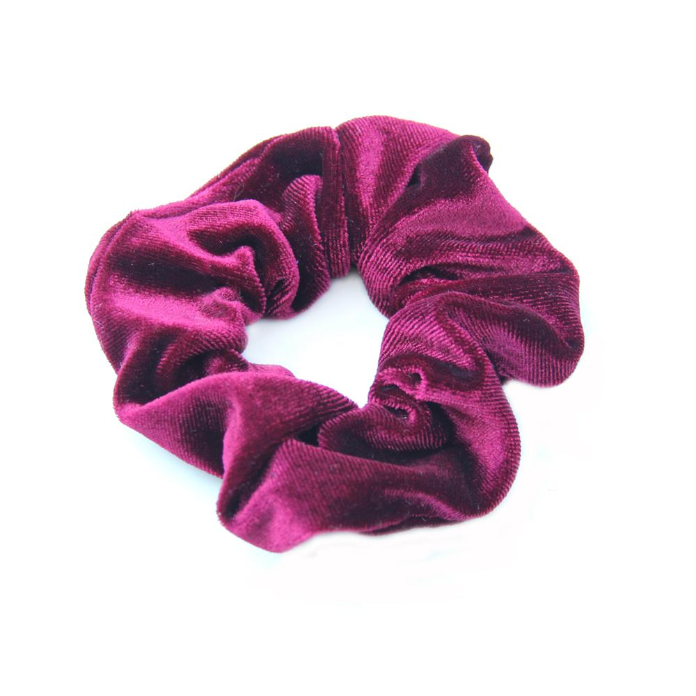 Fashion Woman Velvet Hair Scrunchy Solid Color Hair Tie Band Basic