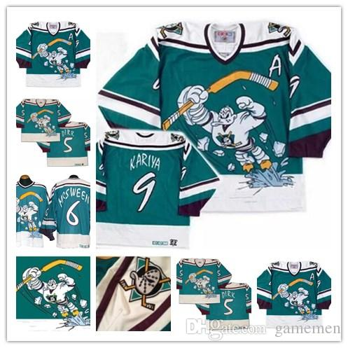 bee890981 ... official store 2018 customize mens 1995 96 retro anaheim ccm mighty  ducks wild wing paul kariya