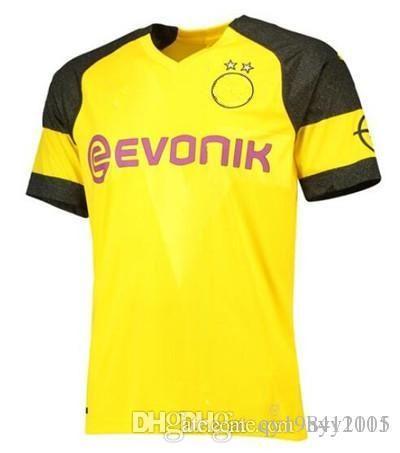 Top Quality 17 18 Borussia AUBAMEYAN Soccer Jersey 2018 AUBAMEYANG PULISIC  REUS YARMOLENKO Home Away Shirt Soccer Jersey Shir Men s Jersey Shirts Best  ... aced67963