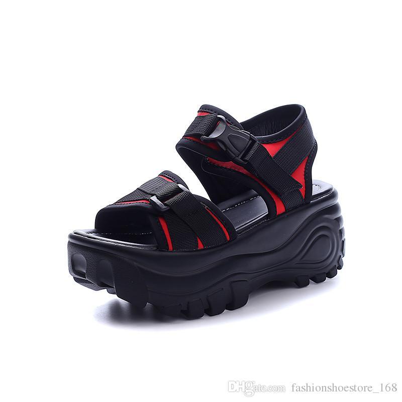 Sandales Femme 2018 Nouveau Students Flat Platform Sandals Leather Zapatos  Mujer Chaussures Femme Scarpe Donna Women Gladiator Sandals Shoe Sale Shoes  Uk ...