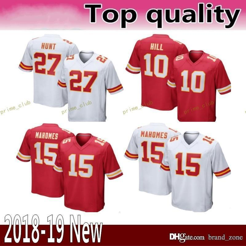 3fe874d2f20 Kansas City 15 Patrick Mahomes II 27 Kareem Hunt Chiefs Jersey Men ...