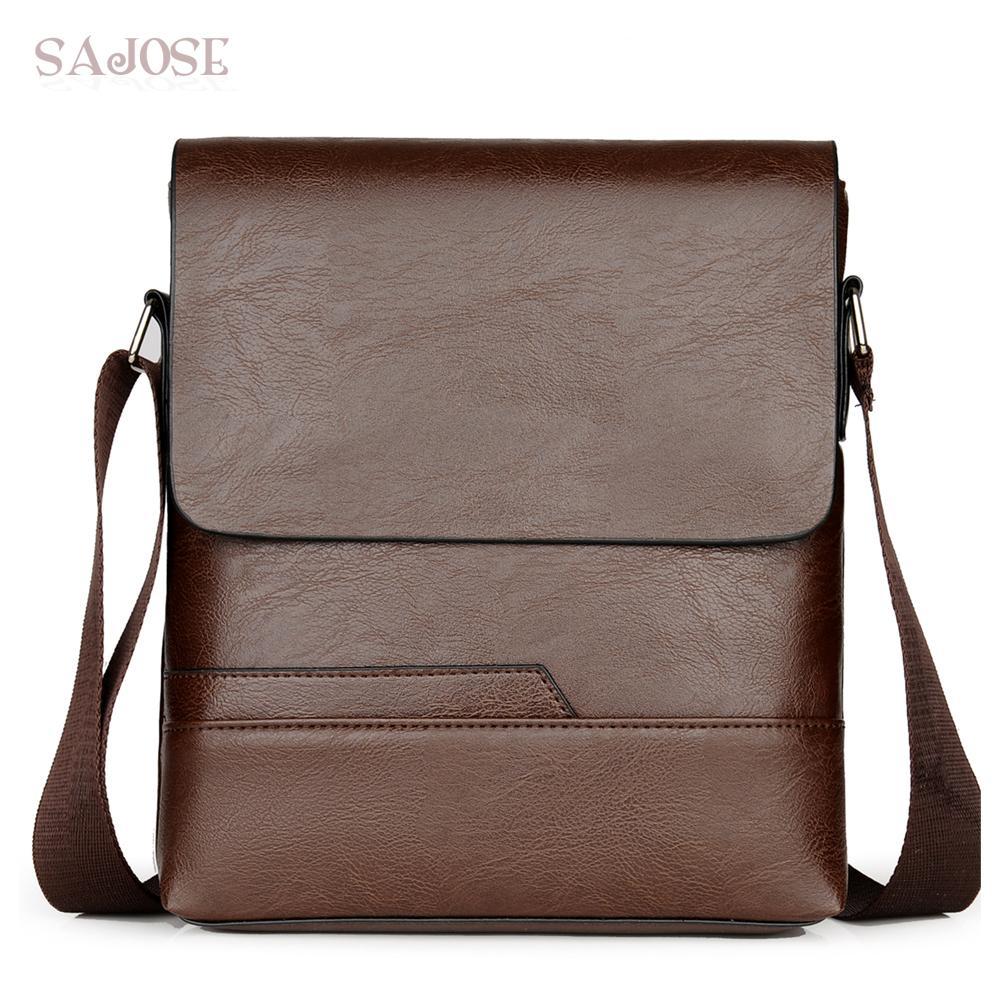 cfd38a6713 Men S Shoulder Bag Fashion Vintage Leather Messenger Bags Crossbody Bags  Male Simple Casual Business High Quality Men Handbag Shoulder Bags For  Women Bags ...