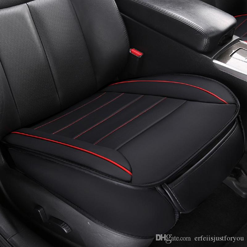 New Universal Car Auto Accessory Seat Covers Front Single Piece PU Leather Waterproof Cushion Mesh Protector Fit For VW Peugeot 307 Canada 2018