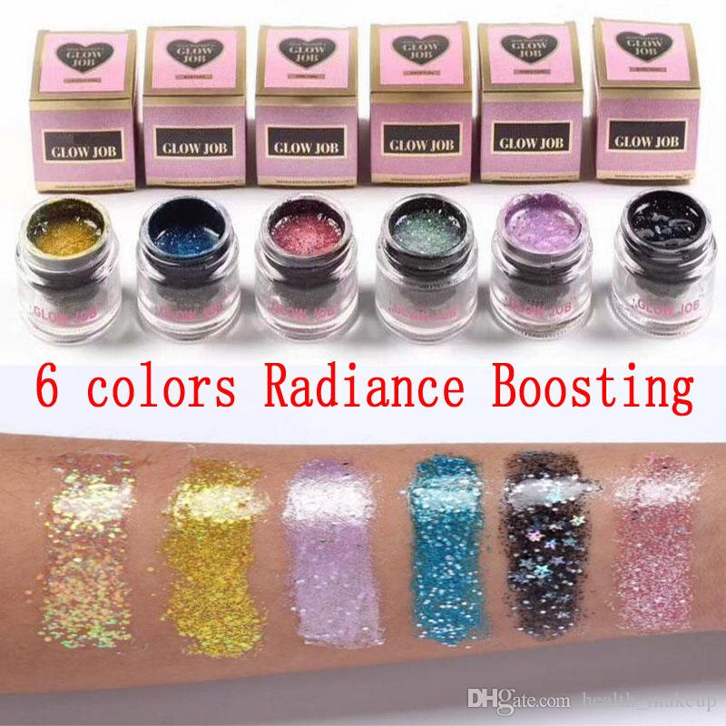 Makeup 6 Colors Radiance Boosting Glow Job Mask Glitter Face Mask with Real  Gold 30 Minutes Relaxing Smooth Soft Facial Reveal 50ml DHL