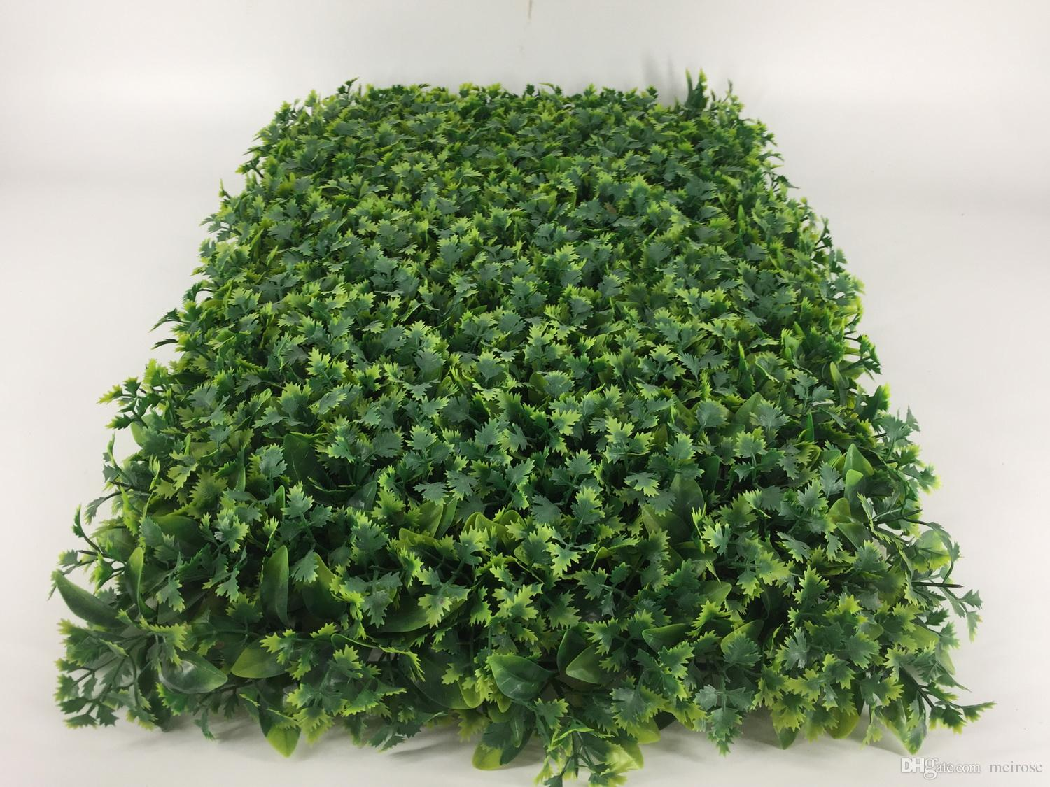 Green Wall UV Artificial Grass Turf indoor/outdoor 60cmx40cm Fake Grass Decoration Boxwood Natural & Realistic Looking Garden Lawn 125-8010