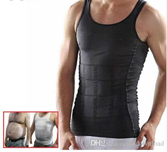 e4c8e5d778edc 2019 Men Corset Body Slimming Tummy Shaper Running Vest Belly Waist Girdle  Shirt Black Shapewear Underwear Waist Girdle Shirts From Ukdownload
