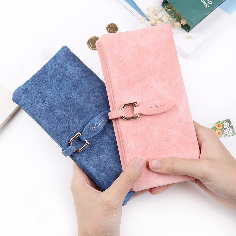 2017 ultime donne in pelle foglia lungo portafoglio femminile portamonete cambiamento chiusura borsa borsa dei soldi titolari di carta delle donne portafogli e portamonete