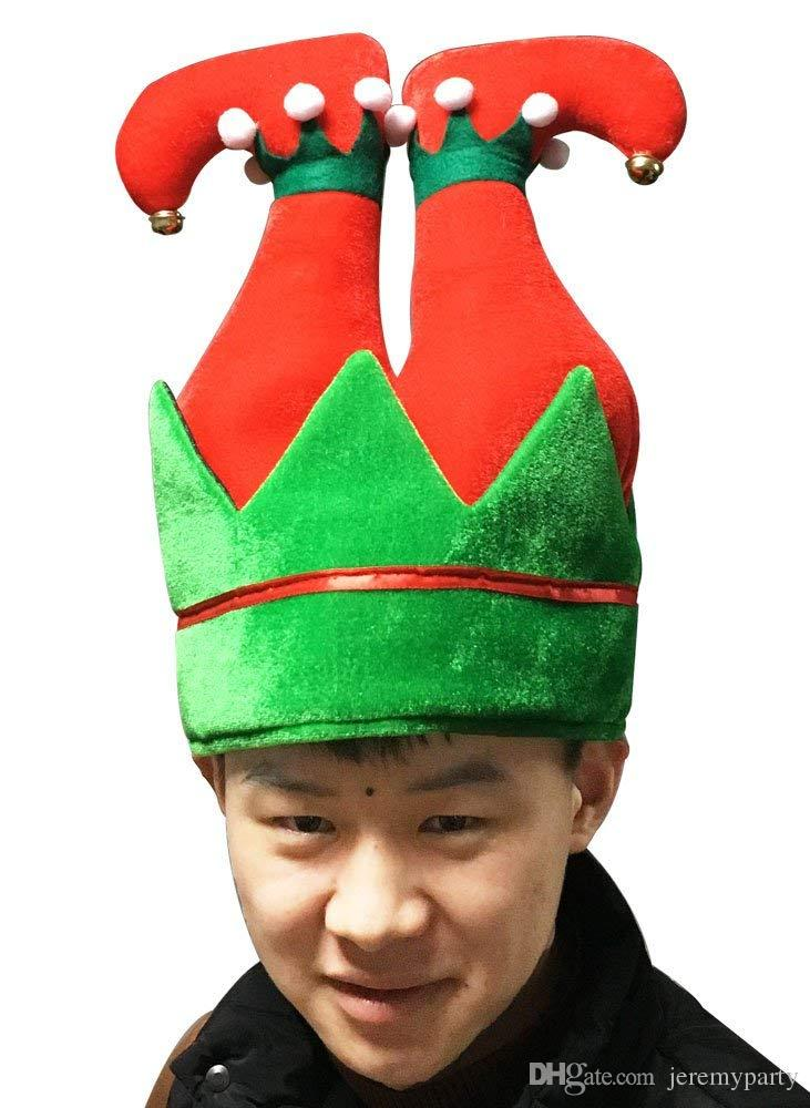 fd6b227083b Adult Children Funny Christmas Party Hat Elf Pants Santa Hat Christmas Ugly  Sweater Cap Xmas Gift Superman Costume Halloween Costumes For Couples From  ...
