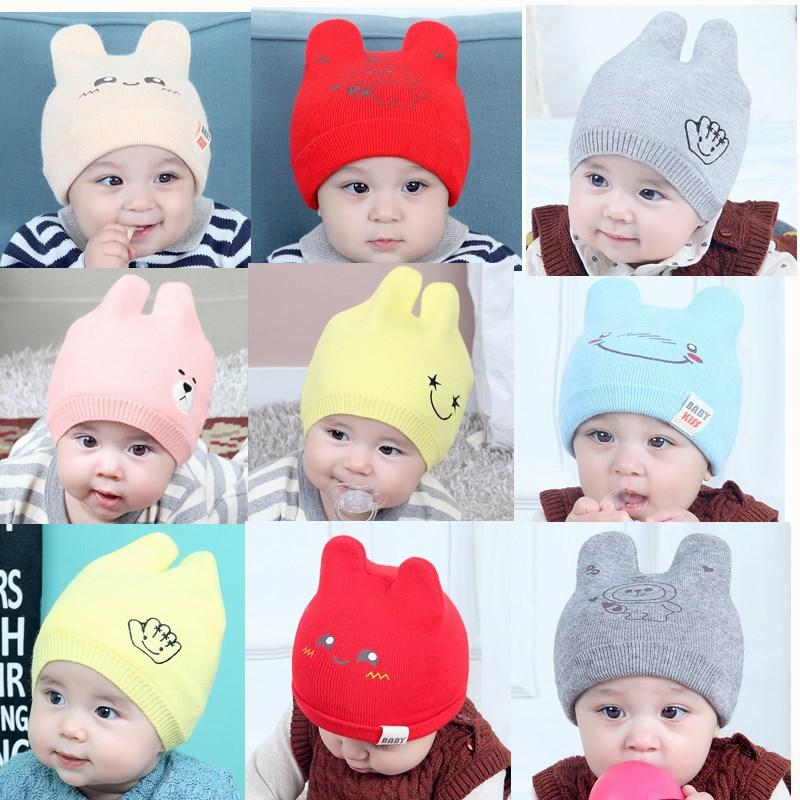 2018 new fashion small bady cute printed animal knitted beanie hat