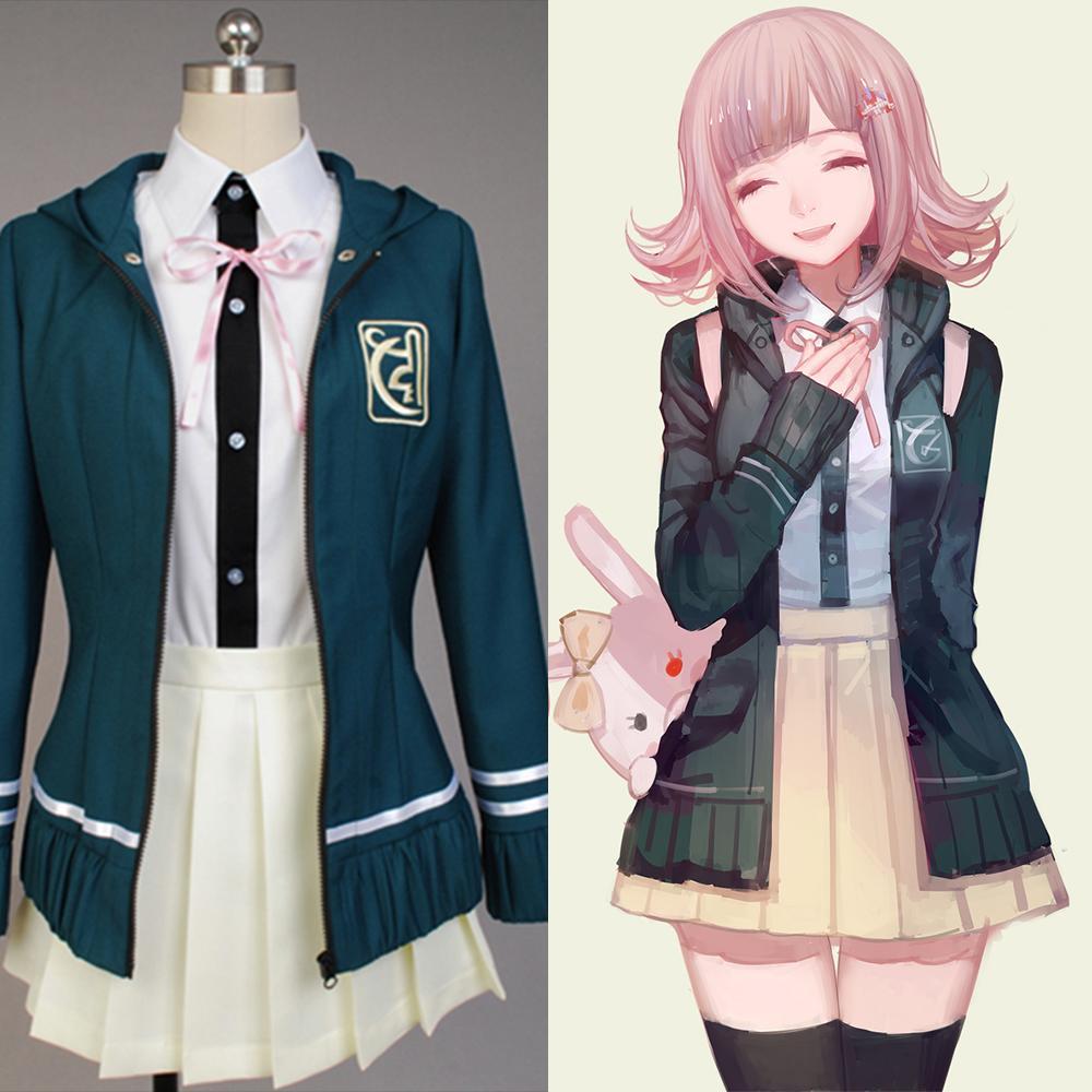 Compre Super DanganRonpa 2 Chiaki Nanami Cosplay Disfraces College Style  Jacket Shirt Set Falda Por Encargo Para Niñas Cosers A  50.76 Del Estartek2  ... a289a5f5dc1d