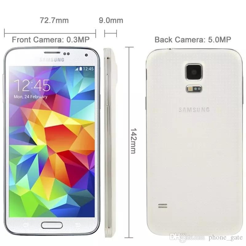 Refurbished Unlocked Samsung Galaxy S5 G900F G900A G900T Mobilephone RAM  2GB ROM 16GB 4G LTE Bluetooth GPS WIFI 16MP Camera Smartphone