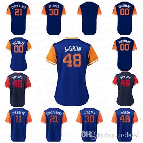 2018 Players Weekend Thor DeGrom New York Todd Frazier Toddfather ... 099c83855