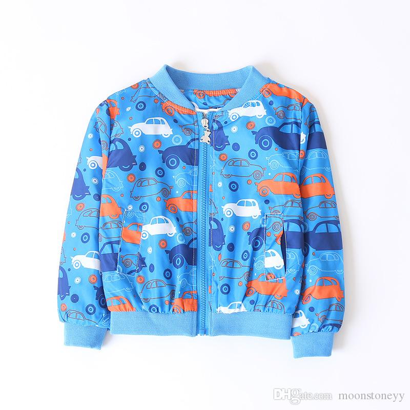 a7b0a045c874 2018 Spring Autumn Baby Boys Jacket Children Windbreaker Printed Car Kids  Outerwear Coats Boys Clothes 100-140cm Online with  25.15 Piece on  Moonstoneyy s ...