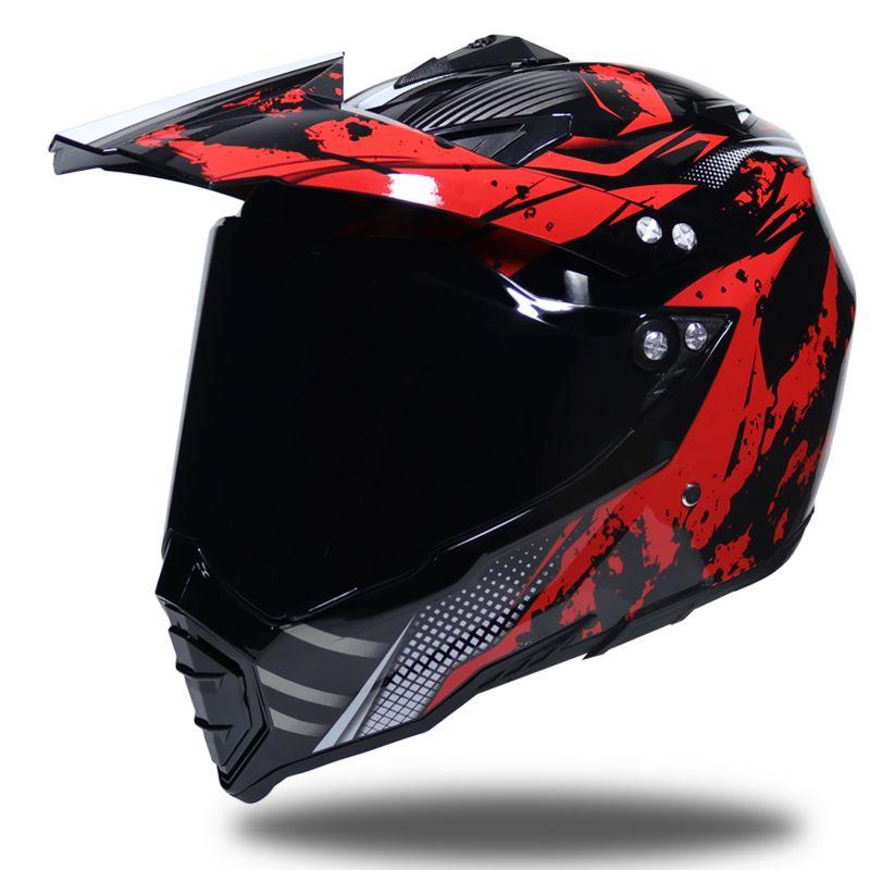 47efecf98bd64 Compre WLT Moto Motocross Cascos Hombres ATV MTB DH Cuesta Abajo Dirt Bike  Cascos De Carreras Todoterreno Casco De Motocicleta Con Visor A  64.09 Del  ...