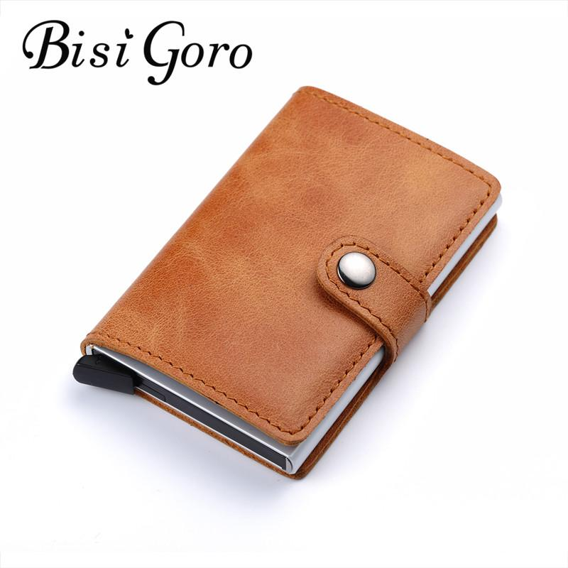 Bisi Goro 2018 Men And Women Genuine Leather Card Holder Vintage ...
