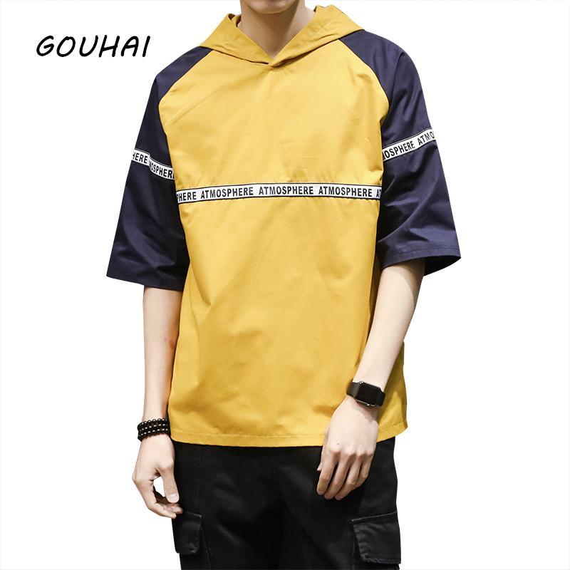 Camiseta de moda de hip hop para hombre, Camiseta de gorro con mangas cortas de verano, camiseta deportiva, camiseta con capucha y una…