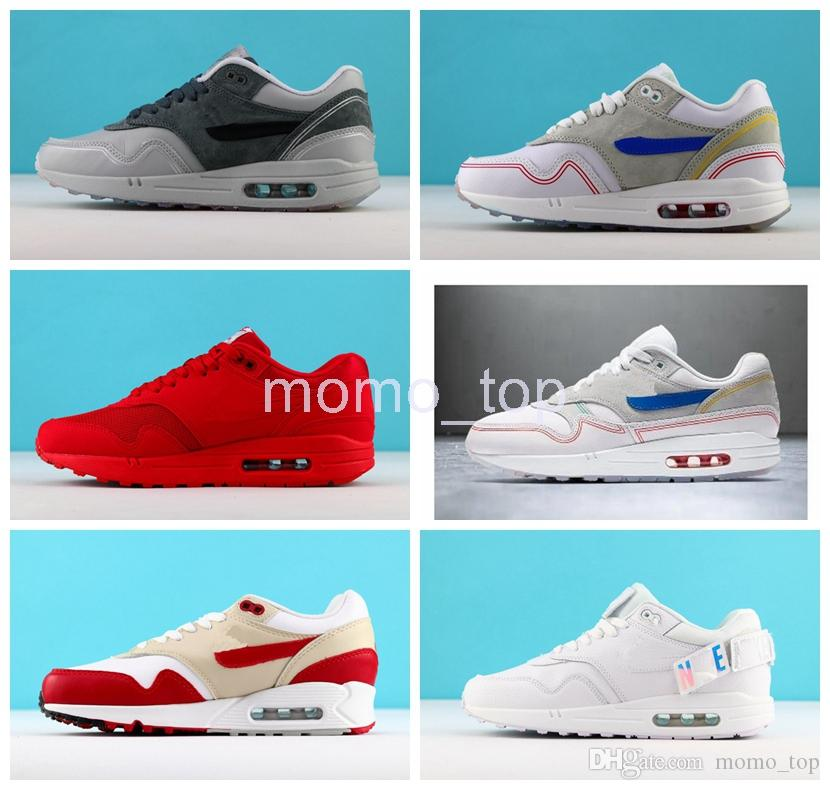 low priced 3252c bc32f 2019 Max1 Centre Pompidou Pack Running Shoes Premium Red White Maxes Sports  Designer Men Women Athletic Shoe 87 Sneakers Air Chaussures Sale Shoes Men  Shoes ...