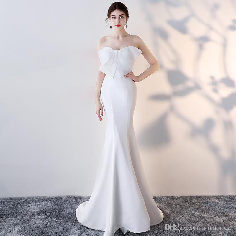 2018 New Arrive Mermaid Prom Dresses Sexy Sweetheart Strapless ...