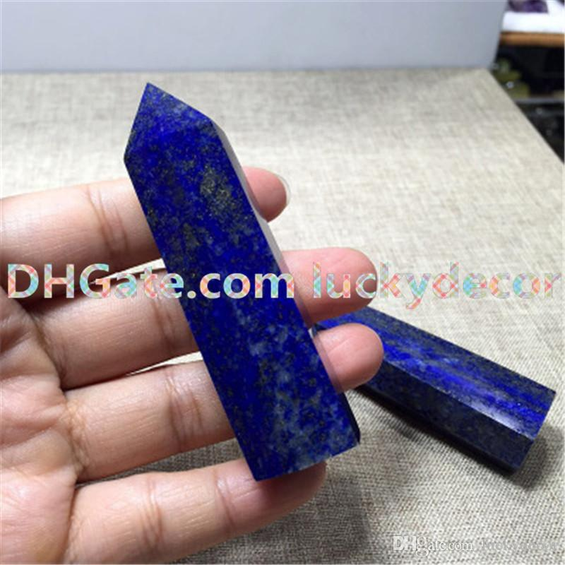 Hot Polished Smooth Self Standing Bue Lapis Lazuli Gemstone Obelisk Healing Wand Hand Cut Natural Stone Point for Crystal Grids or Terrarium