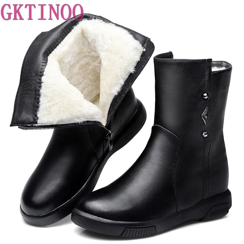 Wholesale Winter Shoes Women Real Cowhide Leather Woman Shoes Flat Warm  Natural Wool Snow Boots Platform High Quality Martin Boots Online with   165.34 Pair ... 02ac60d59cda