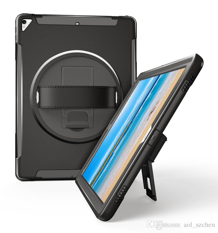"Heavy Duty Hybrid Shockproof Case TPU Tablet PC & Protector with Stand Leather belt for iPad pro 12.9"" Cases Cover DHL"