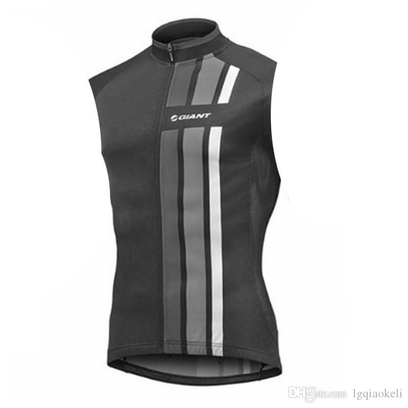 2018 GIANT team Cycling Sleeveless jersey Vest Quick-Dry Bike shirts men's sleeveless bicycle Vest free delivery D0701