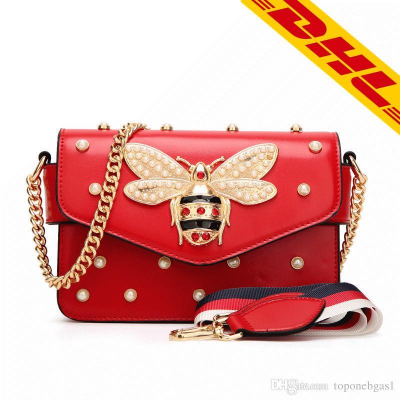 773ba5521909 Wholesale Wholesale ! ! High Quality Women Fashion Bee Bag Luxury Genuine  Leather Designer Shoulder Bag Brand Lady Tote Channel Hand Bag Shoulder Bags  For ...