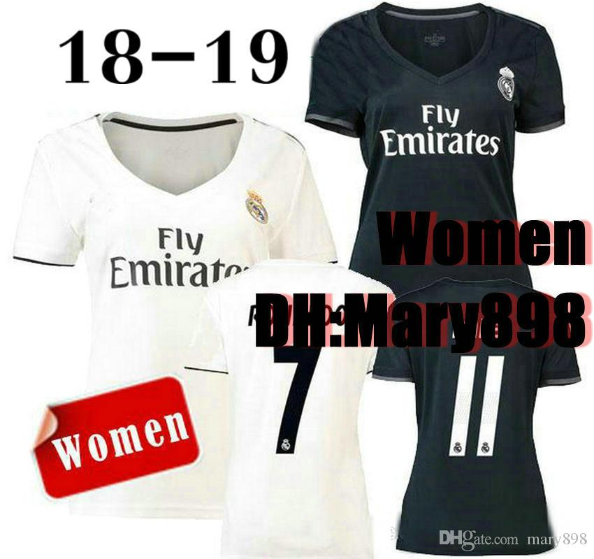 d2ba16f51ed Top Thai 18 19 Women Real Madrid Home Soccer Jersey 2018 Lady NAVAS ...