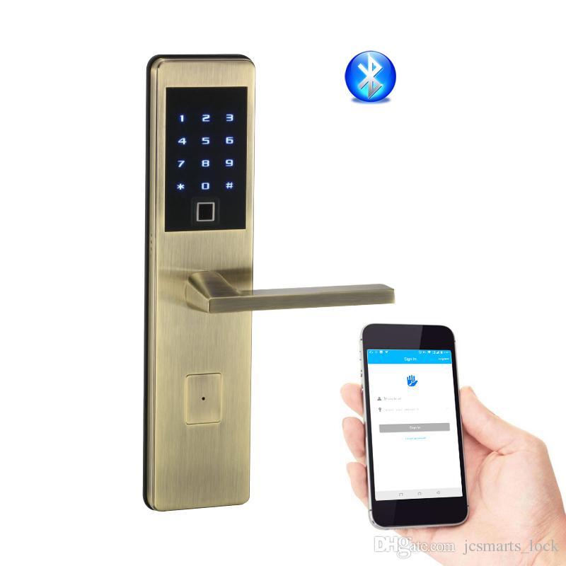 Biometric Keyless Entry Locks Fingerprint Bluetooth House Lock Wifi Door Lock Support Smart Phone Remote Unlock Keyless Entry Locks Best Wifi Door Lock ...