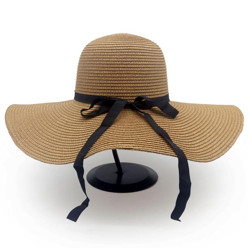 fb2406b7d GGOMU Hot Sale Fashion Bowknot Summer Sun Hats For Women Beautiful Women  Straw Beach Hat Large Brimmed Hat ZLH 070 Sun Hats Sun Hat From  Fashionable16, ...