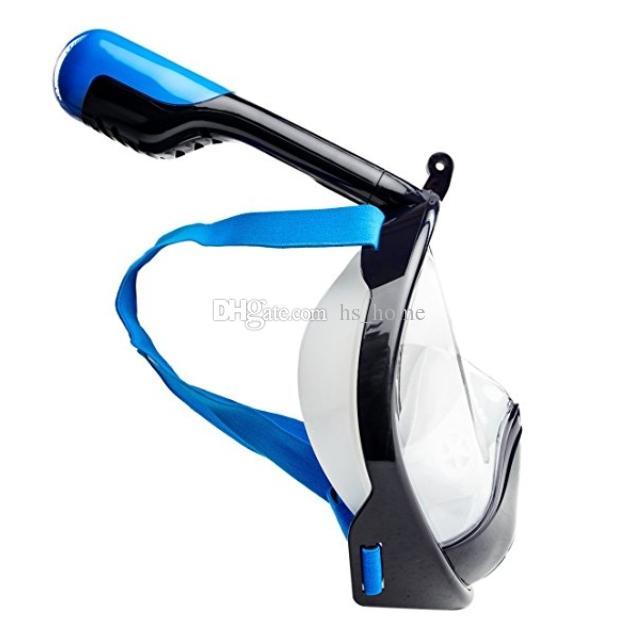 Nueva máscara de buceo Seaview 180 ° GoPro máscara de snorkel compatible Natación entrenamiento Scuba cara completa máscara de snorkel Anti niebla con soporte de la cámara.