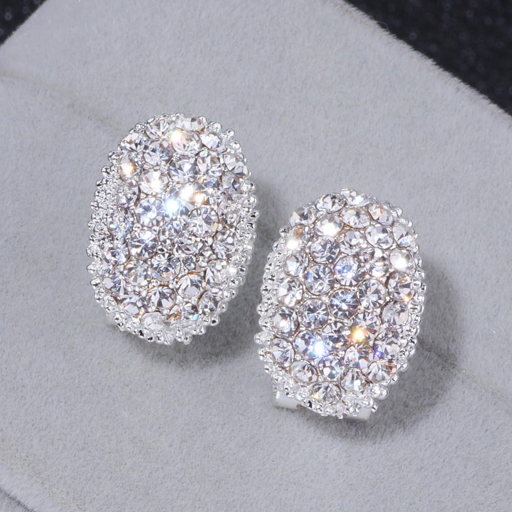 698c29d3e668b 3Pairs Classic Design Romantic Jewelry 2018 Silver Color Aaa Cubic Zirconia  Stone Stud Earrings For Women Elegant Wedding Jewelry Wx023
