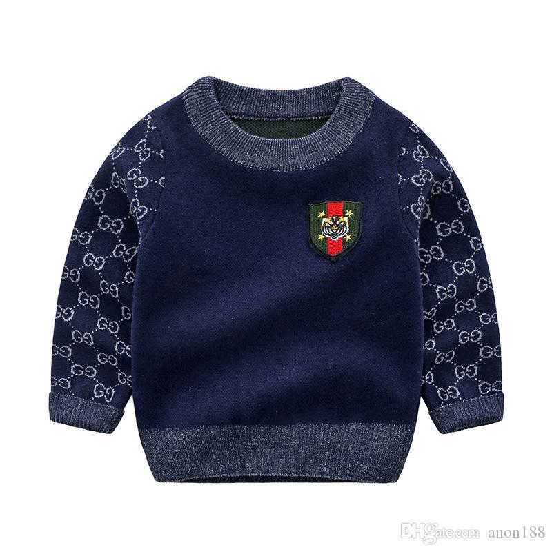 2ad5e79a28af Baby Boy Winter Tops 2018 Newborn Baby Boy Sweaters Spring Autumn ...