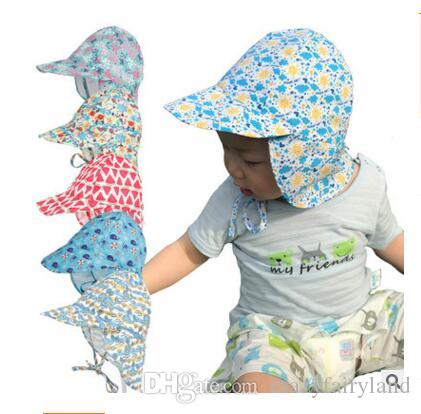 2019 Children Sun Hat Summer Neck UV Protection Girls Boys Outdoor Beach Hat  Neck Ear Cover Flap Cap Adjustable Quick Dry Cap From Crazyfairyland 333255f3b55