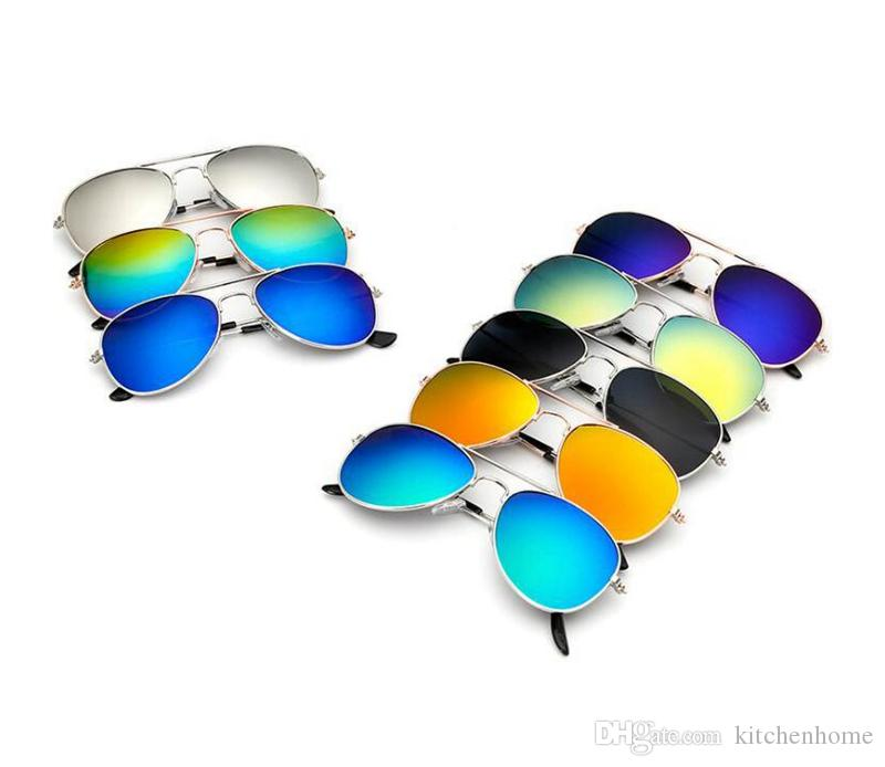 Kids Fashion Sunglasses Piolt Style Colorful Alloy Children Sun Glasses with 100% UV Protection HD Baby Boys Party Glass Gifts