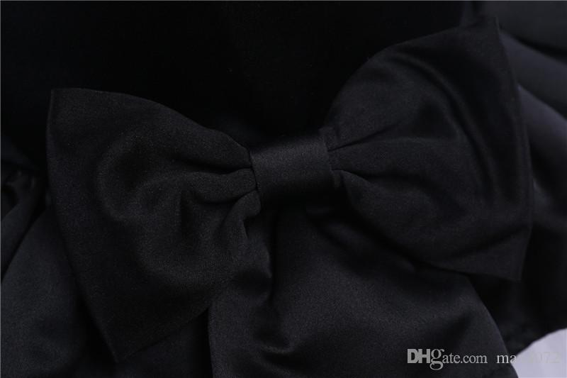 sleeveless edles europäisches festes Bogenprinzessinkleid des netten Mädchenkleides für 3-10yrs Mädchen scherzt Kinderpartei Hochzeitskleid-Leistungskleid