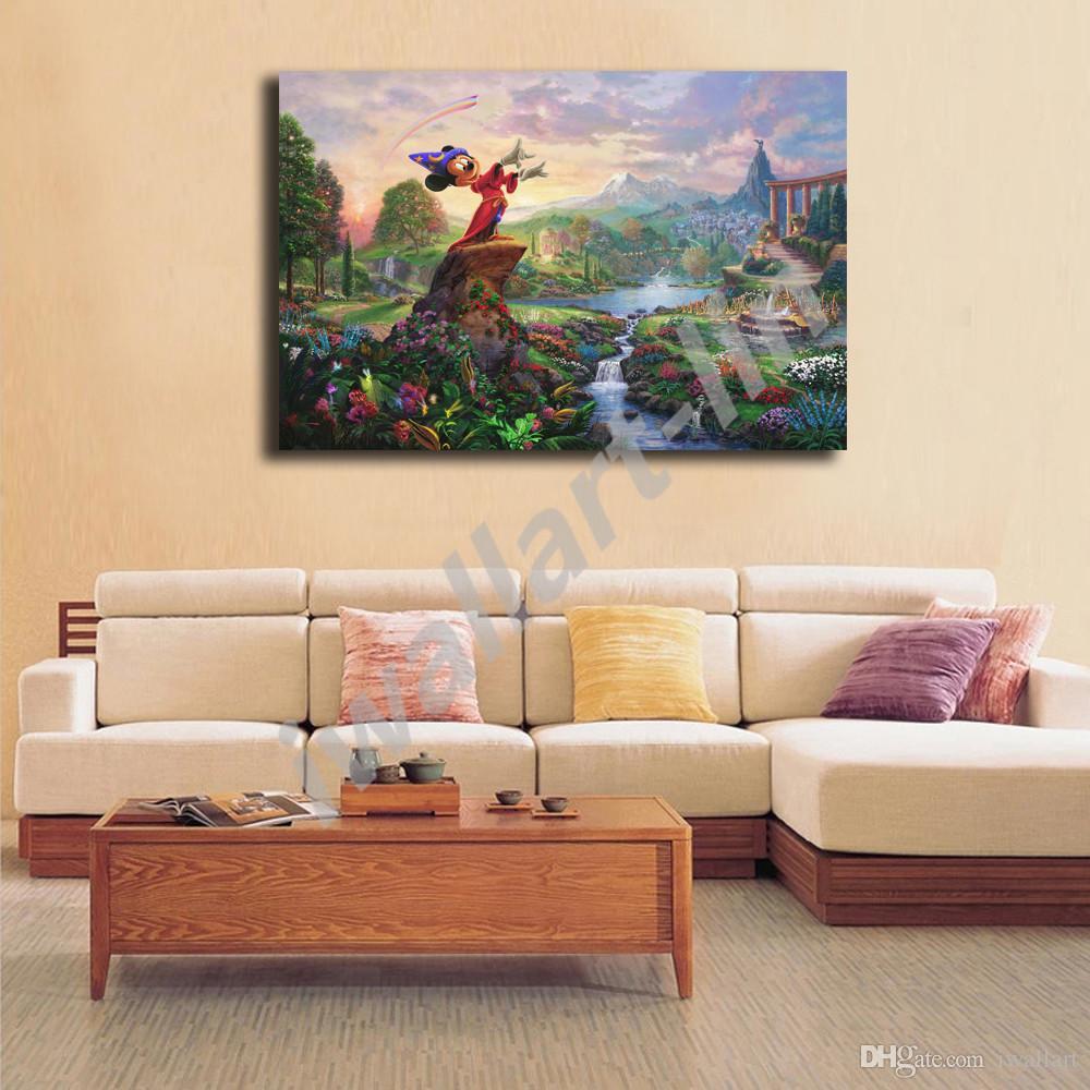 Acheter Thomas Kinkade Fantasia Tout Art Toile Affiche Et Imprimer