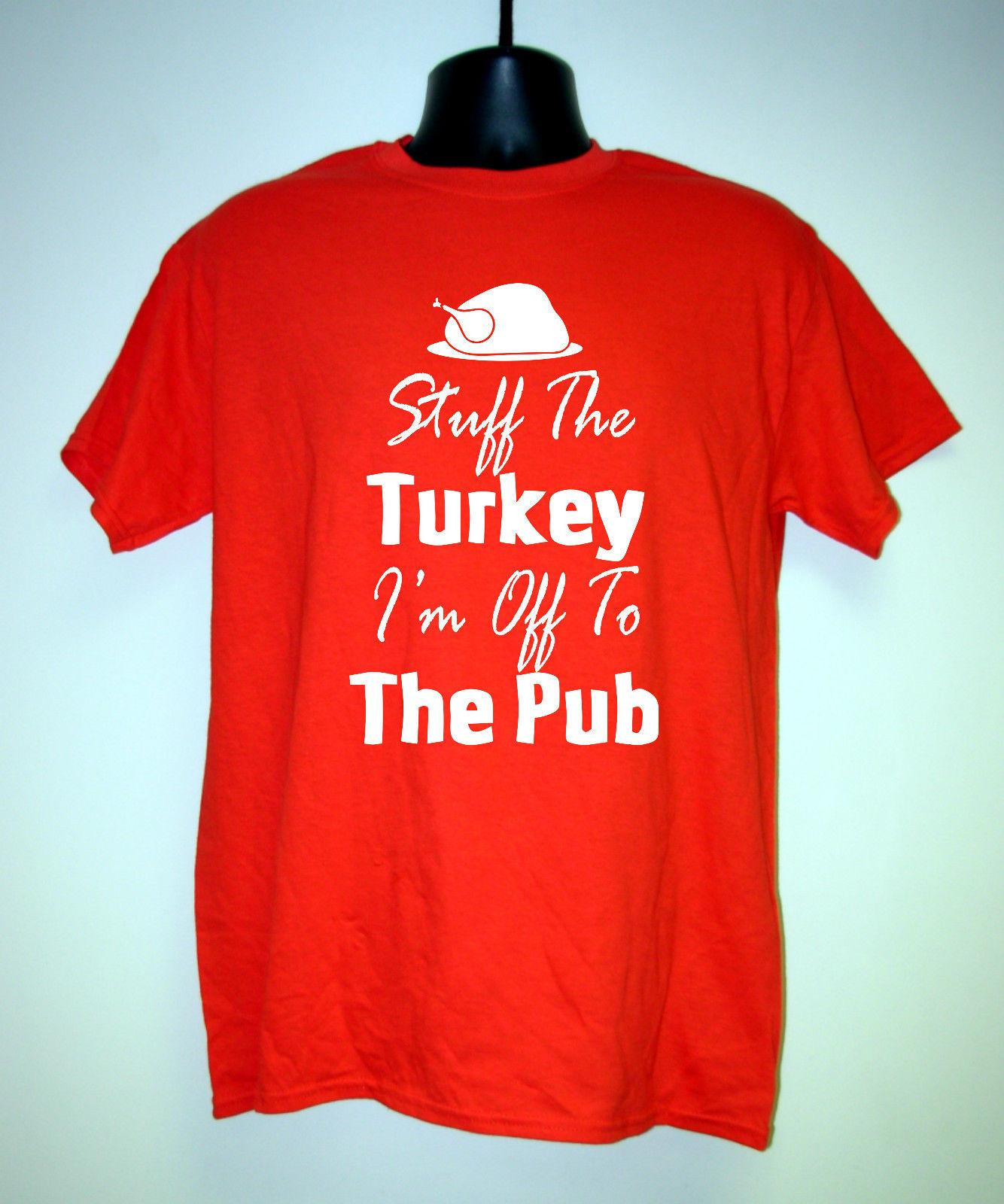 mens funny christmas t shirt stuff the turkey im off to the pub great giftunisex funny gift casual tee clever funny t shirts funny tshirts from - Funny Christmas T Shirts