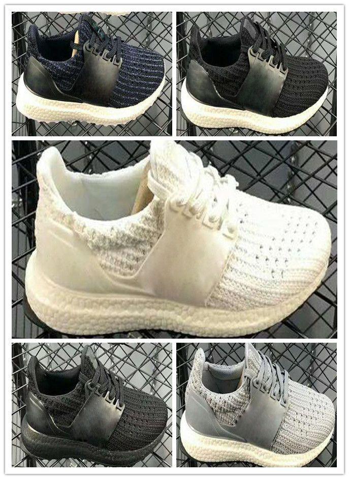 best service 21fa1 eb86b Compre Adidas Ultra Boost 4.0 UB 4.0 Envío Gratis 2018 Niños Ultra Boost  2.0 3.0 UB Men Running Shoes BASF Kids Boys Popcorn Sports Shoes Sneakers  Entre ...
