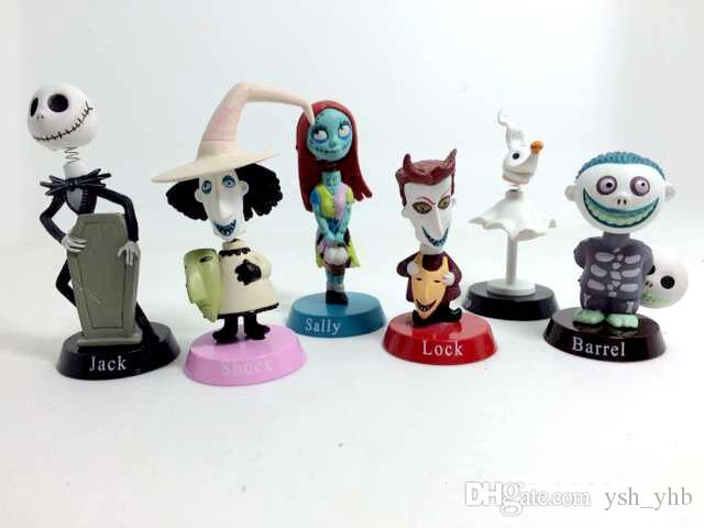 2018 the nightmare before christmas action figures toys cartoon jack decoration model for children christmas halloween gift 6 styleshot sell from ysh_yhb