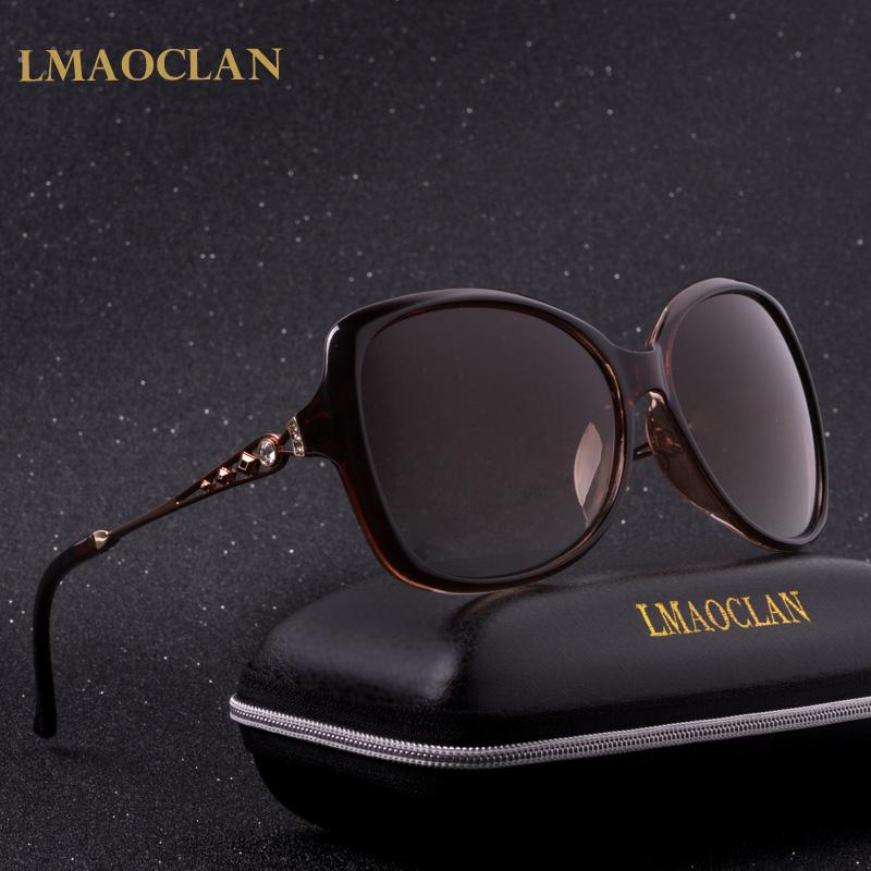 df978b8cc05 NEW LMAOCLAN Brand Design Luxury Polarized Sunglasses Women Ladies Gradient  Sun Glasses Female Vintage oversized Eyewear UV400