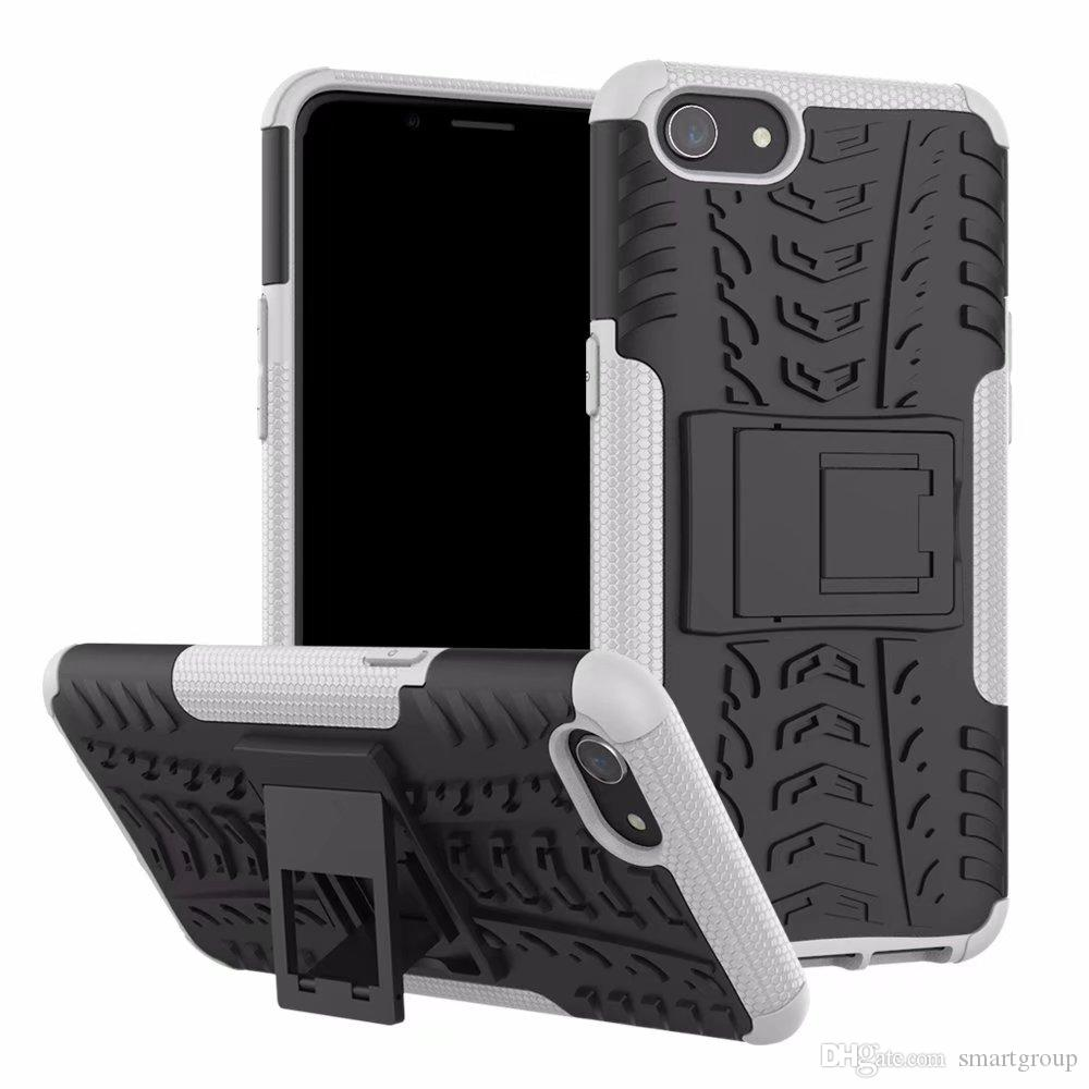 For OPPO A83 Case Colorful Rugged Combo Hybrid Armor Bracket