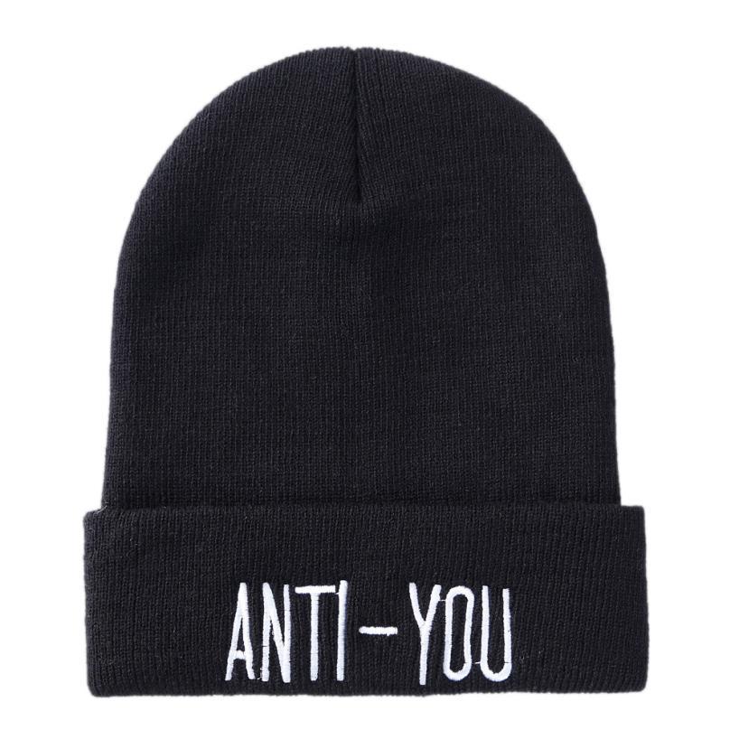 de38cb9a44395e 2019 Unisex Slouchy Knitting Beanie Hip Hop Cap Warm Winter Ski Hat ...