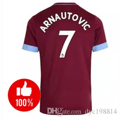 66f88d5c2 2018 2019 West Ham United Football Jersey Arnautovic Lanzini ...
